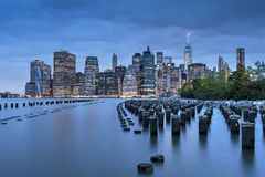 New York City Manhattan Finacial District panorama Royalty Free Stock Images