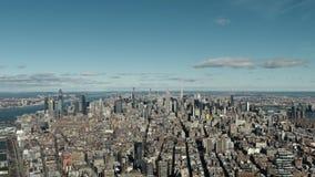 New York City Manhattan - flyg- sikt arkivfilmer