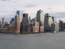 New York City Manhattan General View. Downtown business district royalty free stock image