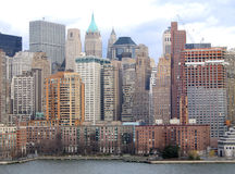 New York City Manhattan General View. Close-up royalty free stock photos