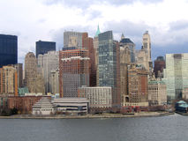New York City Manhattan General View. Downtown royalty free stock images