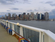 New York City Manhattan General View. View from Cruise Ship stock photos
