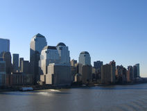 New York City Manhattan General View. Downtown Business District stock images