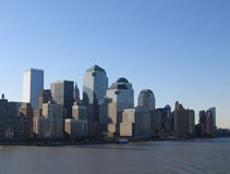 New York City Manhattan General View. Downtown Business District royalty free stock photography