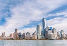 New York City - Manhattan horisont från en olik punkt av sikten Royaltyfria Bilder