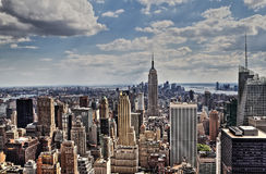 New York City Manhattan midtown aerial panorama Stock Image
