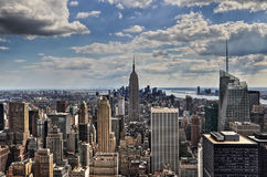New York City Manhattan midtown aerial panorama Royalty Free Stock Photo