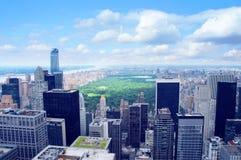 New York City Manhattan midtown aerial panorama Stock Photos