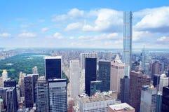 New York City Manhattan midtown aerial panorama Royalty Free Stock Image