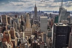 New York City Manhattan midtown aerial panorama view Royalty Free Stock Image