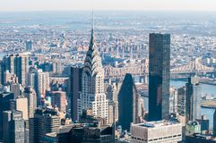 New York City Manhattan midtown aerial panorama view with skyscr Royalty Free Stock Images