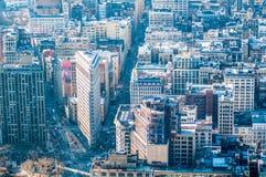New York City Manhattan  midtown aerial panorama view with skyscr Stock Photos