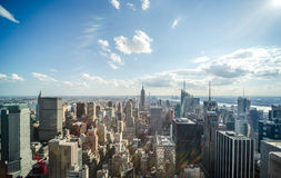 New York City manhattan midtown buildings skyline Royalty Free Stock Photography
