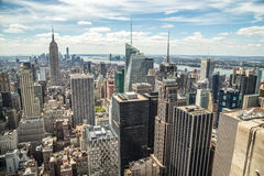 New York City manhattan midtown buildings skyline Stock Image