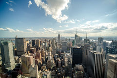 New York City manhattan midtown buildings skyline Stock Photo