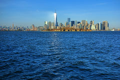 New York City Manhattan Midtown Downtown Skyline Stock Image