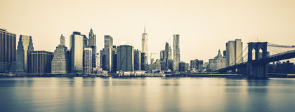 New York City Manhattan midtown at dusk, special photogeaphic pr Royalty Free Stock Image
