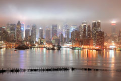 New York City Manhattan Midtown over river Stock Photography