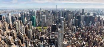 New York City Manhattan midtown panorama Stock Photos