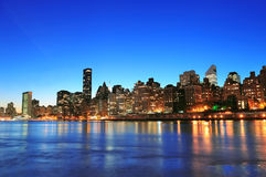 New York City Manhattan midtown skyline Stock Photography