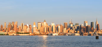 New York City Manhattan midtown skyline panorama Royalty Free Stock Images