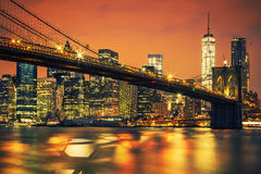 New York City Manhattan midtown at sunset Royalty Free Stock Image