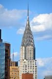 New York City Manhattan midtown view with Chrysler building Royalty Free Stock Photos