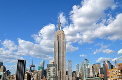 New York City Manhattan midtown view with Empire State Building Royalty Free Stock Images