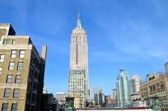 New York City Manhattan midtown view with Empire State Building, NYC Royalty Free Stock Images