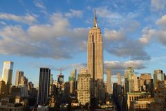 New York City Manhattan midtown view with the Empire State Building Stock Images