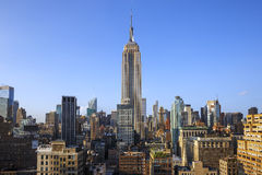 New York City Manhattan Midtown view with Empire State Building Royalty Free Stock Photography
