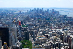 New York City Manhattan midtown view with skyscrapers, New York City Stock Photography