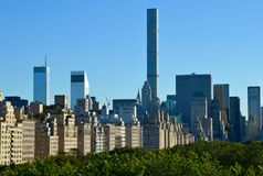 New York City Manhattan midtown view Stock Images