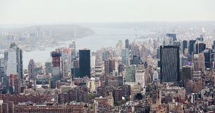 New York City Manhattan midtown view with Washington Bridge Royalty Free Stock Image
