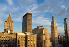 New York City Manhattan midtownsikt Fotografering för Bildbyråer