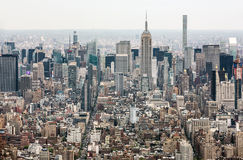 New York City Manhattan midtownsikt Royaltyfria Bilder