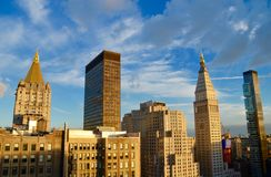 New York City Manhattan midtownsikt med Empire State Building Arkivfoton