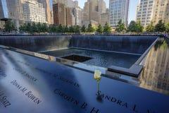 New York City Manhattan 9/11 minnesmärke Arkivfoto