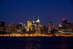 New York City Manhattan at night Stock Photo