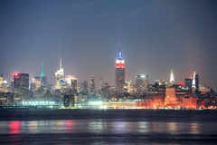 New York City Manhattan at night Stock Image