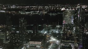 New York city at nght. New York City Manhattan night lights stock video