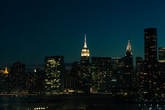 New York City Manhattan at night Stock Photo