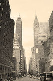New York City Manhattan noire et blanche Photographie stock libre de droits