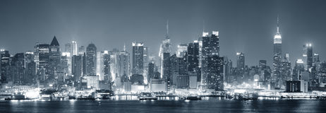 New York City Manhattan noire et blanche Photo libre de droits