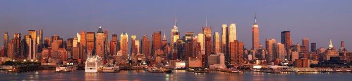 New York City Manhattan panorama Stock Images