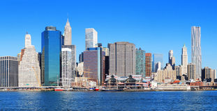 New York City Manhattan panorama Stock Photos