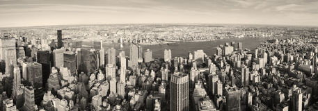 New York City Manhattan panorama aerial view Stock Photography