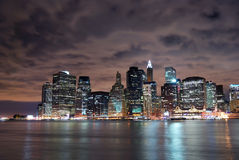 New York City Manhattan skylin Stock Photography