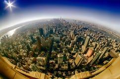 New york city manhattan skylinaerial Royalty Free Stock Image