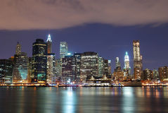 New York City Manhattan skyline Royalty Free Stock Images